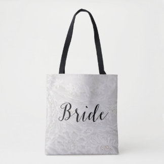 Brides Gift Bridal Canvas Tote Bag All Over