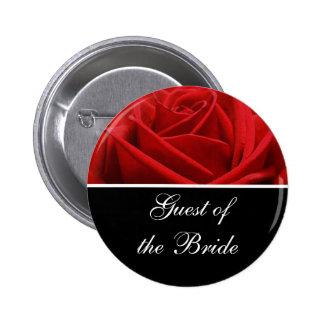 Bride's Guest Wedding Reception Identification Button