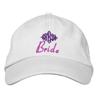 Bride's Hat - with custom initials Embroidered Hat
