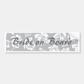 Bride's Hawaiian White Flower Bumper Sticker
