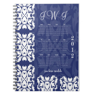 Bride's Journal Notebook Organizer in Deep Blue