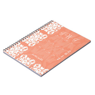 Bride's Journal Notebook Organizer in Peach