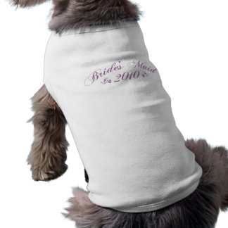 Bride's Maid 2010 purple pet clothing