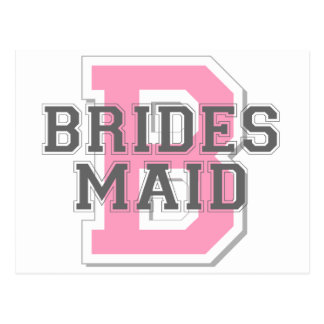 Brides Maid Cheer Post Cards