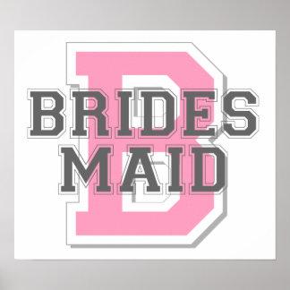 Brides Maid Cheer Poster