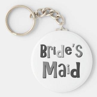 Brides Maid Gray Keychains