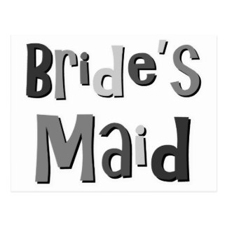 Brides Maid Gray Postcard