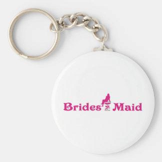 Brides Maid Basic Round Button Key Ring