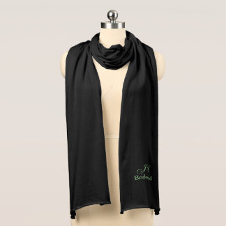 Bride's Maid Monogram Knit Scarf