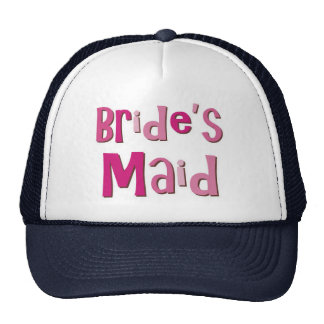 Brides Maid Pink Brown Hat