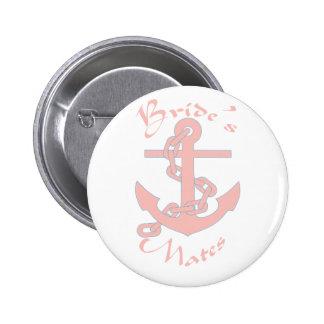Bride's mates 6 cm round badge