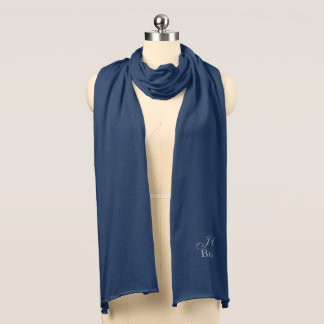 Bride's Monogram Knit Scarf