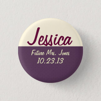 Bride's Name Tag 3 Cm Round Badge