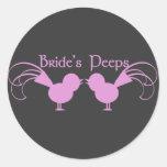 Bride's Peeps/ Pink Sticker