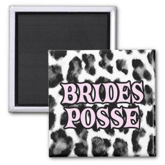 Brides Posse Square Magnet