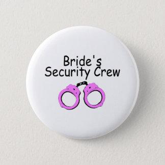 Brides Security Crew (Handcuffs) 6 Cm Round Badge