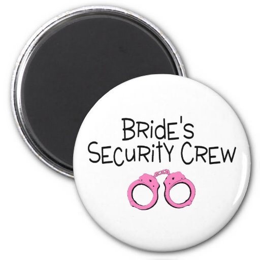Brides Security Crew Pink Handcuffs Refrigerator Magnets