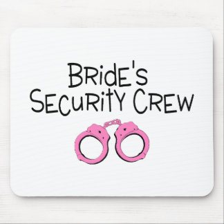 Brides Security Crew Pink Handcuffs Mouse Pad