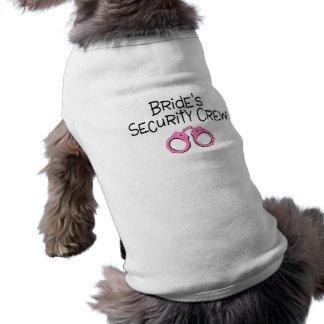 Brides Security Crew Pink Handcuffs Sleeveless Dog Shirt