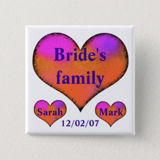 bride's side button