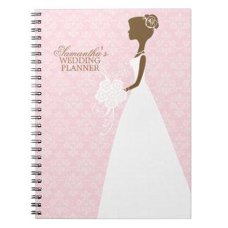 Bride's Silhouette Wedding Planner Note Books