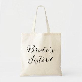 Bride's Sister | Black Modern Calligraphy