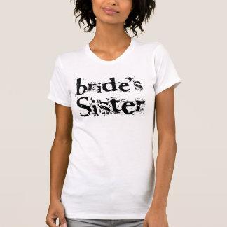 Bride's Sister Black Text T-shirts