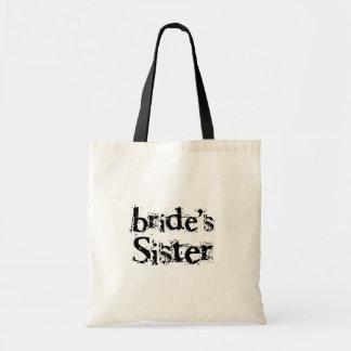 Bride's Sister Black Text Canvas Bag