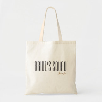 Bride's Squad Customized Name Tote Bag
