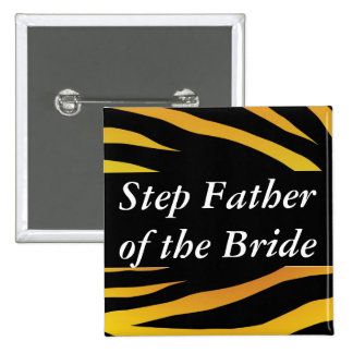 Brides Step Father 15 Cm Square Badge