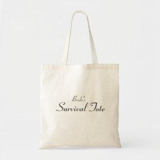 Bride's Survival Tote Budget Tote Bag
