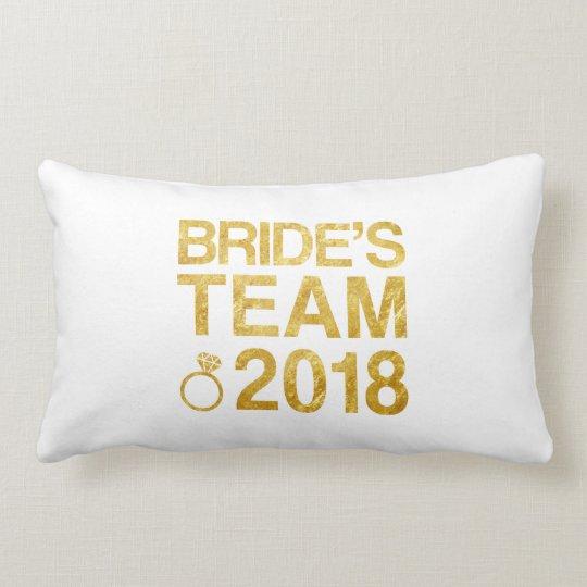 Bride's team 2018 lumbar cushion
