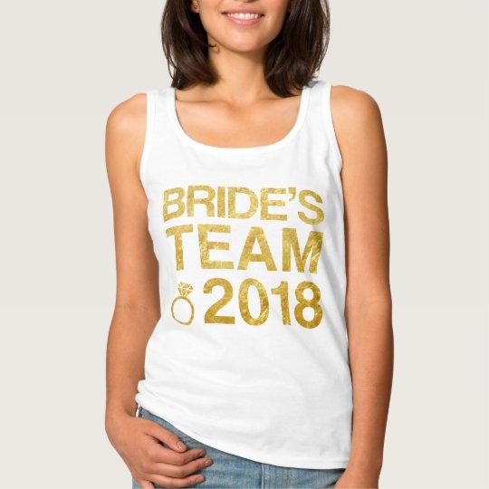 Bride's team 2018 singlet
