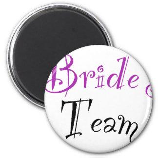 Bride's Team 6 Cm Round Magnet