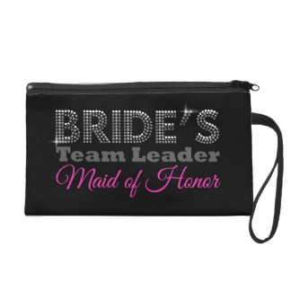 Bride's team to leader maid of honor wristlet