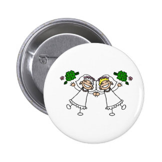 Brides Tossing Bouquests 6 Cm Round Badge