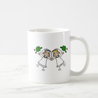Brides Tossing Bouquests Basic White Mug