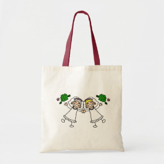 Brides Tossing Bouquests Budget Tote Bag
