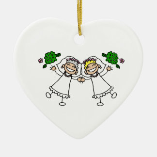 Brides Tossing Bouquests Ceramic Heart Decoration