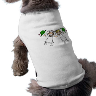 Brides Tossing Bouquests Sleeveless Dog Shirt
