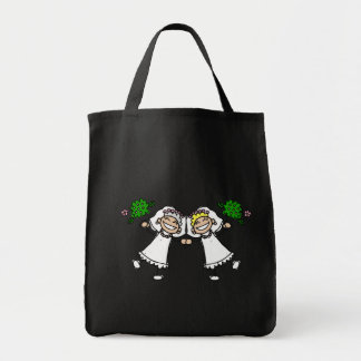 Brides Tossing Bouquests Grocery Tote Bag