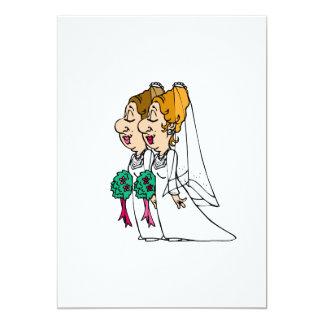 Brides walking down the Aisle 13 Cm X 18 Cm Invitation Card