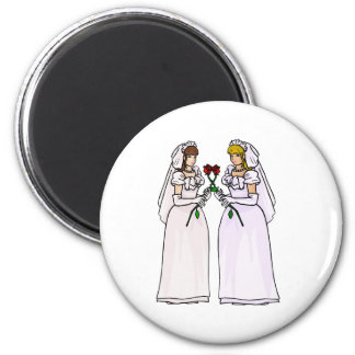 Brides with Roses 6 Cm Round Magnet