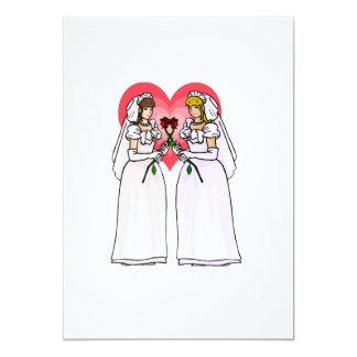 Brides with Roses in Love 13 Cm X 18 Cm Invitation Card
