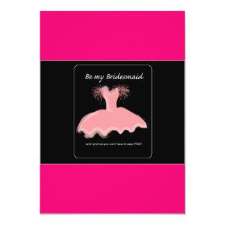 bridesmaid 13 cm x 18 cm invitation card