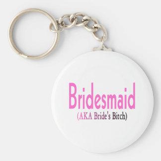 Bridesmaid (AKA) Basic Round Button Key Ring