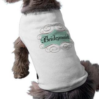 Bridesmaid Aqua Wedding Bridal Party Sleeveless Dog Shirt