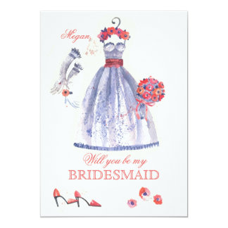 Bridesmaid Attire Card