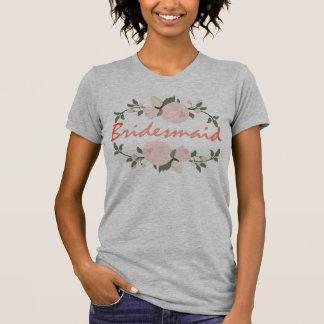 Bridesmaid bachelorette party T-shirt Floral