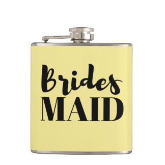 Bridesmaid Bachelorette Wedding Vinyl Flask